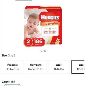 Other - Huggies size 2 snugglers